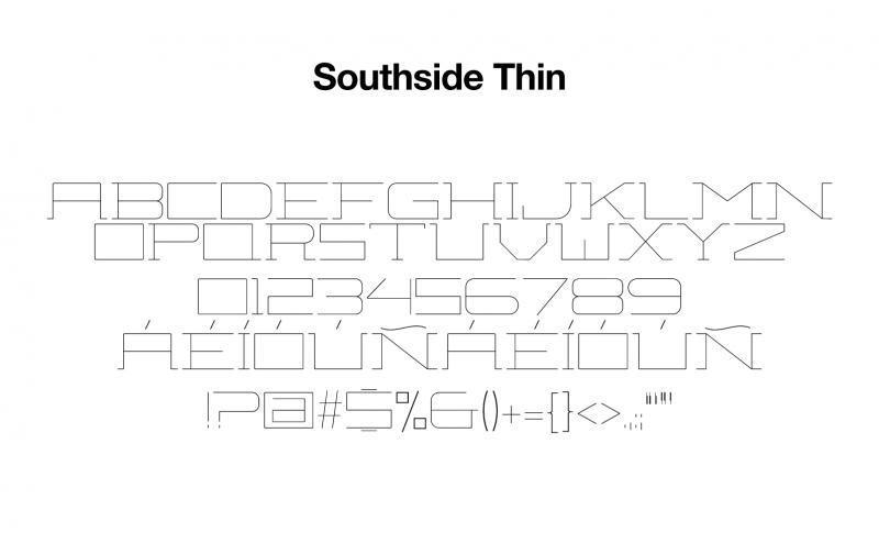 sports-font-southside-thin-glyphs