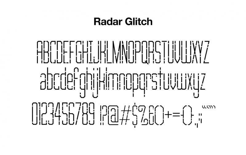sports-font-radar-glitch-glyphs