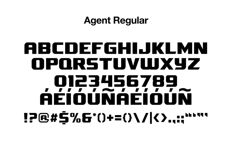 sports-font-agent-regular-glyphs