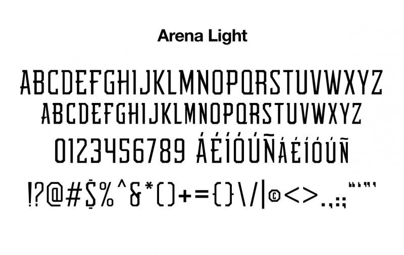 sports-font-arena-light-glyphs